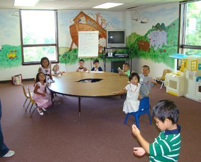 主日学教室布置图片_家具