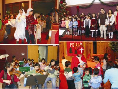 圣诞晚会在「哈利路亚」大合唱欢呼声中结束