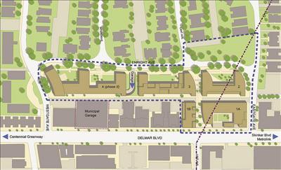 华盛顿大学八千万四栋学生宿舍大楼所在地,位於delmar路,eastgate路和图片