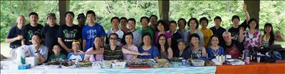 现代中文学校卡拉ok俱乐部举行户外烧烤聚会图片