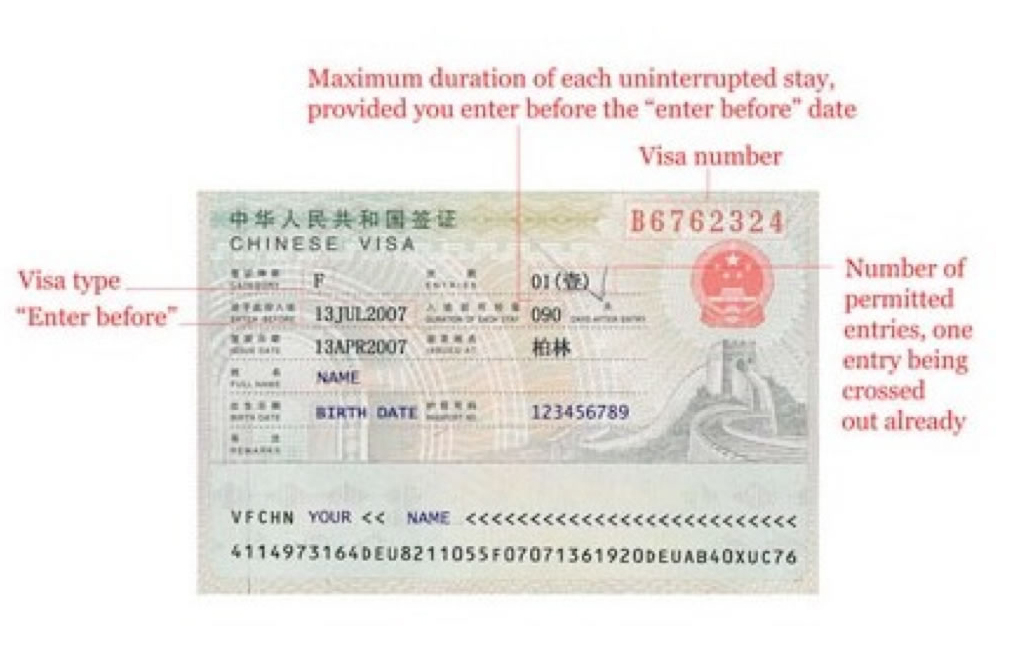 St louis china visa service center a sample of business visa v visa to china yadclub Choice Image